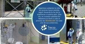 Trecsa refuerza protocolos de desinfección en subestaciones eléctricas